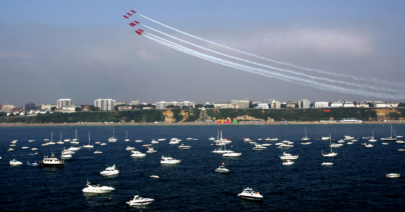 Red Arrows over Bournemouth