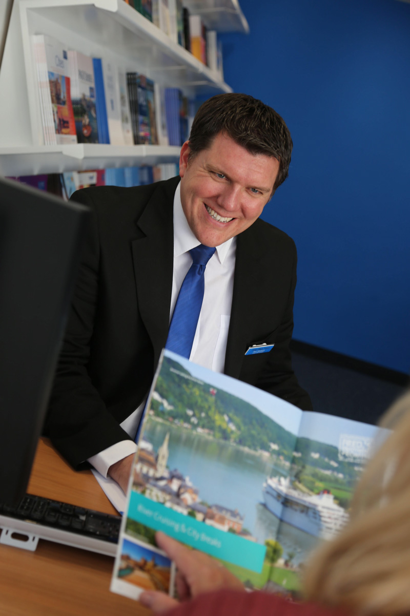 Staff at the new Fred Olsen Travel Agents in Lymington