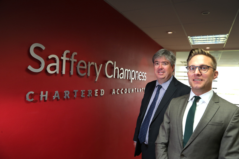 Nick Fernyhough and Roger Wareham, partners at Saffery Champness Chartered Accountants.
