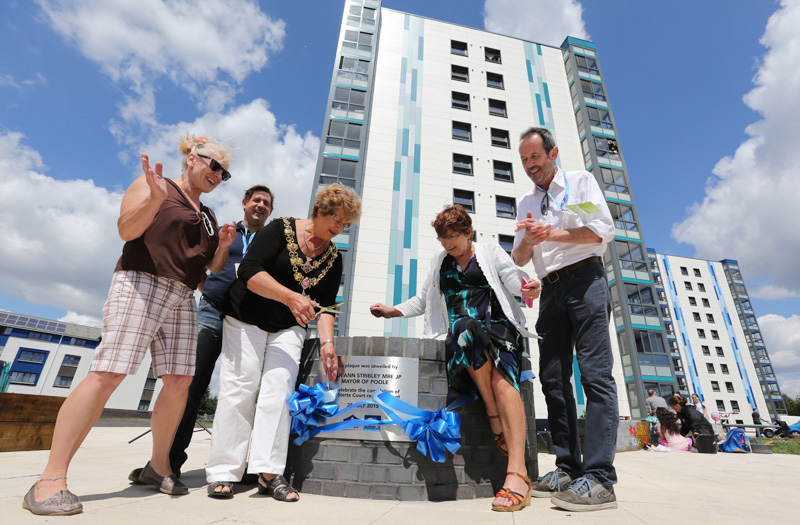 Completion of the Poole Harbour Partnership revamp of Sterte Court in Poole.l