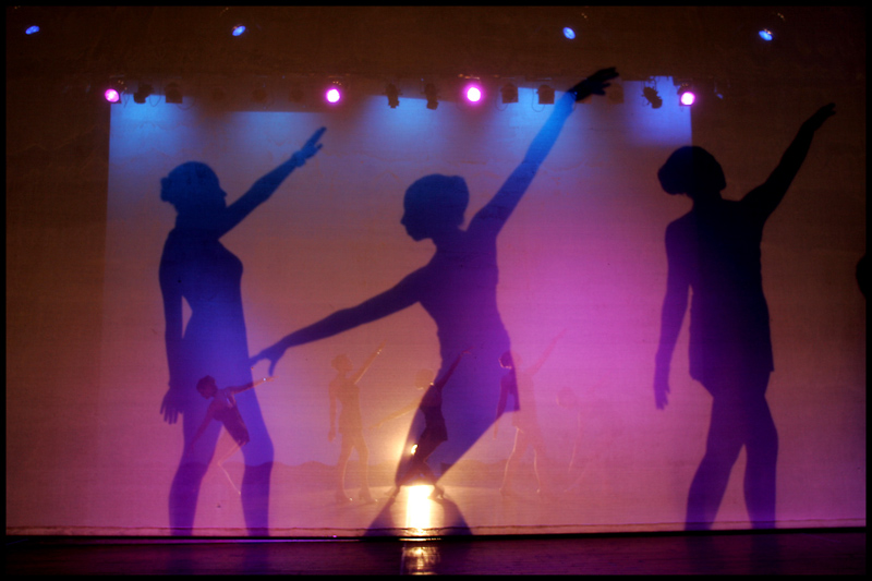 Academy of Dance rehearse for their part in the Movie Magic show at the Pavilion Theatre.