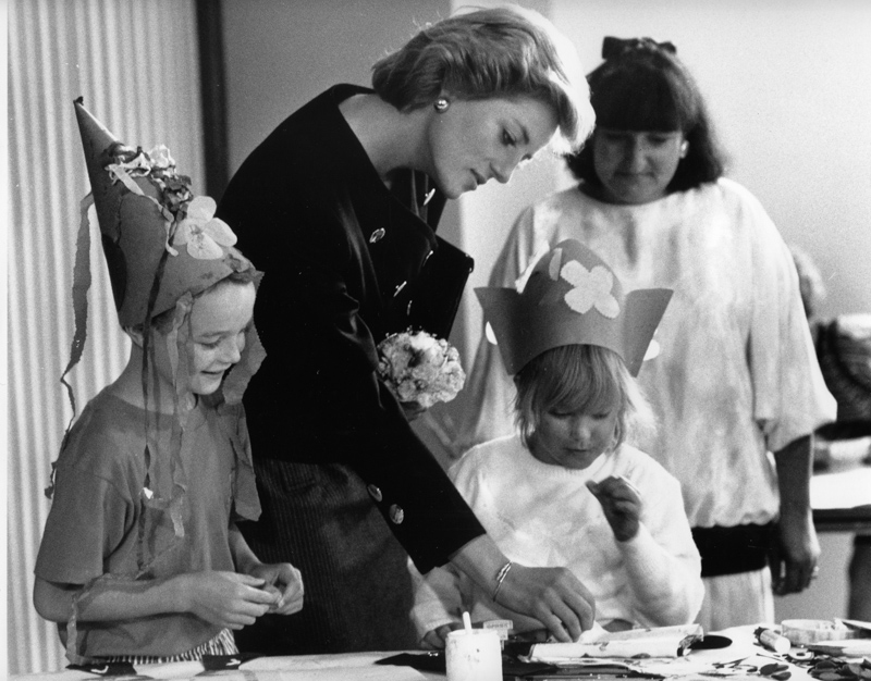 Princess Diana visits Poole Arts Centre in 1988