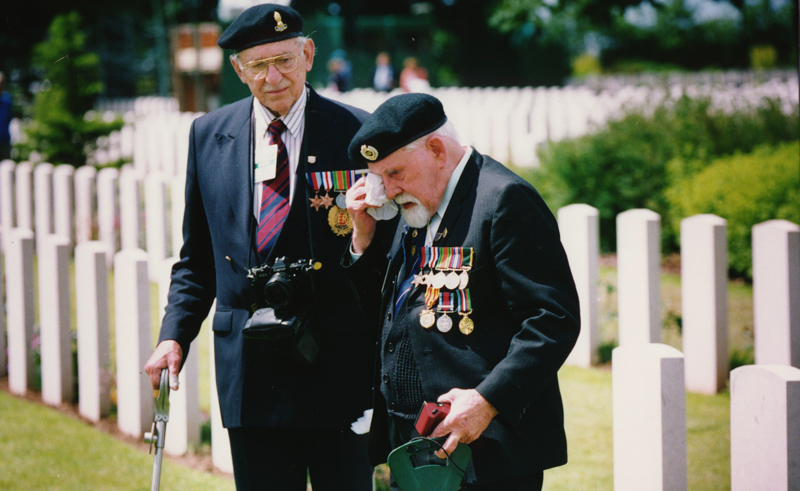 D-Day veterans visit Bayeux War Cemetery in 1994 on the 50th anniversary of the Normandy landings.