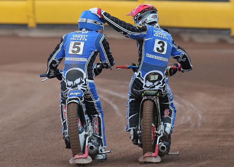 Poole Pirates Speedway riders Maciej Janowski and Przemyslaw Pawlicki