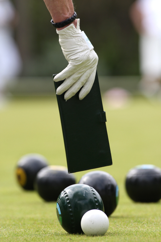 Detail from Ladies Bowls action between Alexandra Park and Braeside.