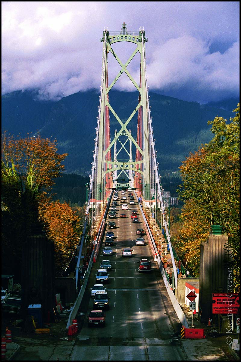 Lions Gate Bridge in Vancouver, Canada.