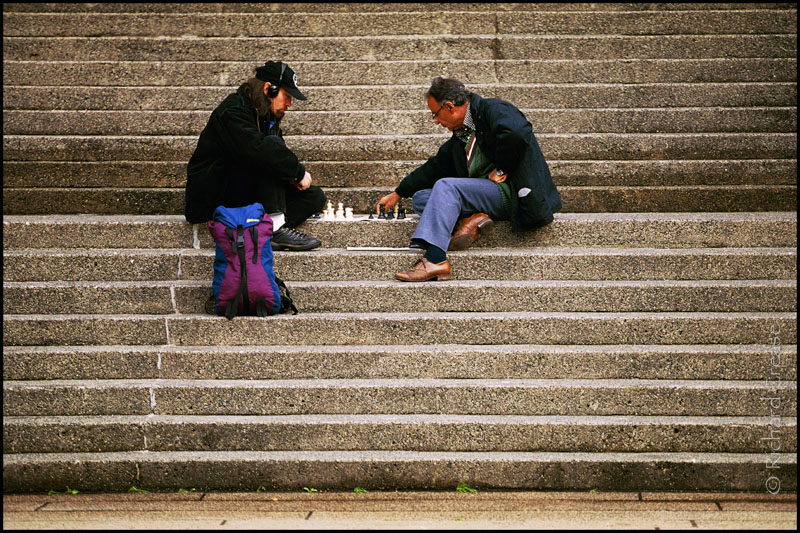 Playing chess in Vancouver, British Columbia.