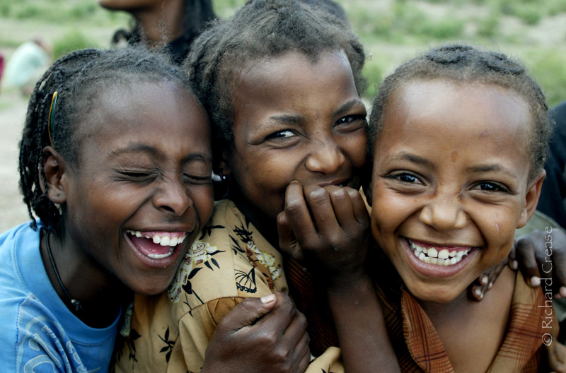 Children on the road to Awassa in the Great Rift Valley, Ethiopia.