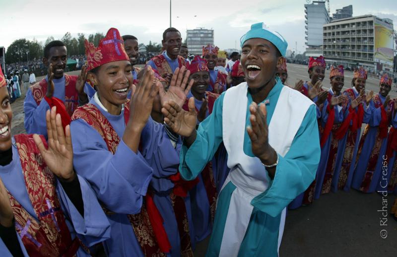 The annual Meskel celebration in Addis Ababa, Ethiopia.